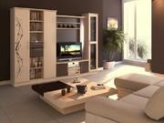Услуги по изготовлению гостиной под заказ. Сборка,  большой выбор материалов,  дизайн,  качество,  индивидуальные проекты.