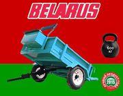 Универсальный прицеп для мотоблоков,  минитракторов и культиваторов Беларус МП-700. Бесплатная доставка. Гарантия