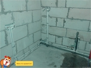 замена труб в ванной  8(033) 3848009