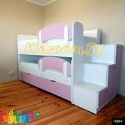 Выдвижная двухуровневая кровать с выкатным спальным местом Минск