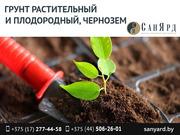 Грунт растительный на основе торфа(чернозем).