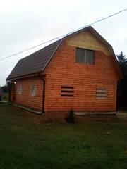 Дома из бруса Владимир 9×7 с верандой