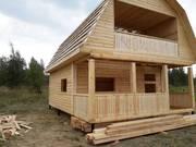 Садовый Дом из бруса с балконом Артем 6×6