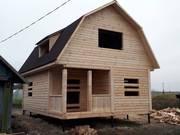 Дом сруб из бруса Эмиль 6×8 установка за 10 дней
