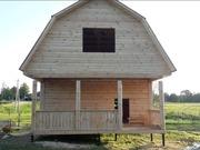 Дом сруб из бруса Елена 6×6 установка за 10 дней