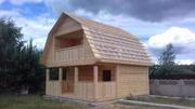 Дом сруб из бруса Верона 6×6 установка за 10 дней