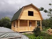Построим Дом сруб из бруса 6х8 за 10 дней с установкой