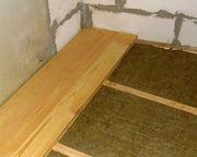 Монтаж деревянных полов с утеплением выезд: Минск и район
