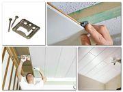 Монтаж панелей из дерева и ПВХ на стены и потолок