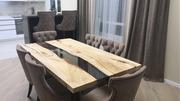 Обеденный стол из массива с эпоксидной рекой от 700 BYN
