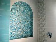 Облицовка стен мозаикой и декоративным камнем,  плиткой