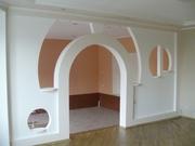 Облицовка стен,  монтаж перегородок и потолка из гипсокартона