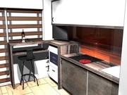 Кухни любой геометрической сложности.